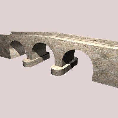 3d medieval bridge