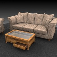 3d sofa coffee table