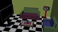 free room sala 3d model