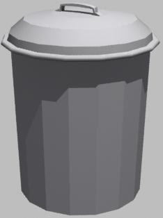 free garbage 3d model