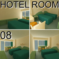 3d hotel guest room 08