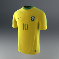 brazil soccer shirt - 3d model