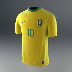 brazil soccer shirt - 3d model