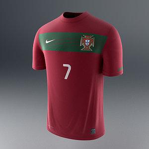 portugal soccer shirt - 3d model