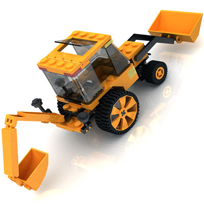 maya toy lego tractor