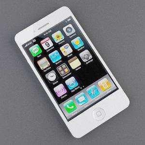 phone 4g white 3d model