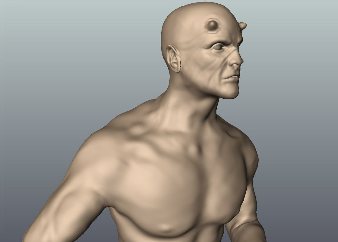 3d model of man fantasy