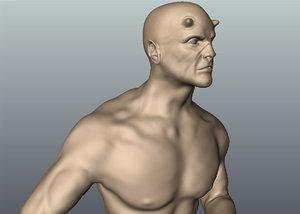 3d model of man fantasy