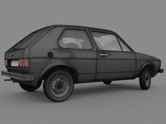 golf mk1 car 3d model
