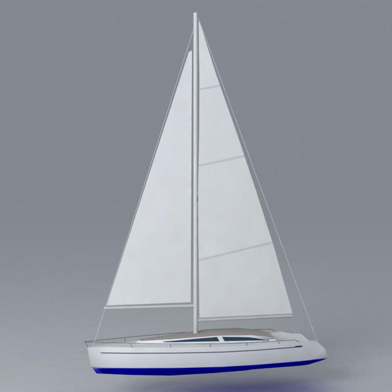 ready sailboat 3d model