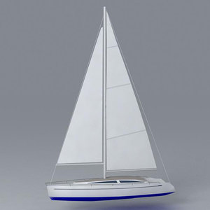ready sailboat 3d model