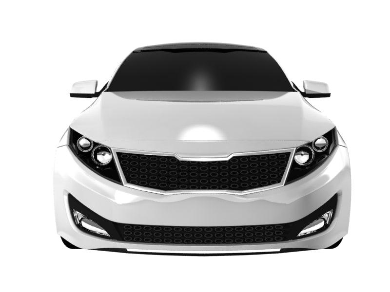 kia optima magentis 2011 3d model