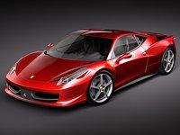 ferrari 458 italia sport 3d model