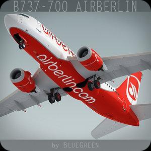 737-700 airberlin 3d c4d