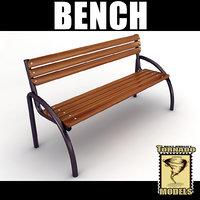 3d playground bench