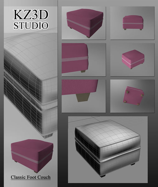 couch foot 3d model