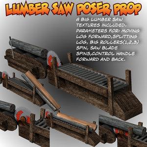 lumbersaw lumber saw 3d model