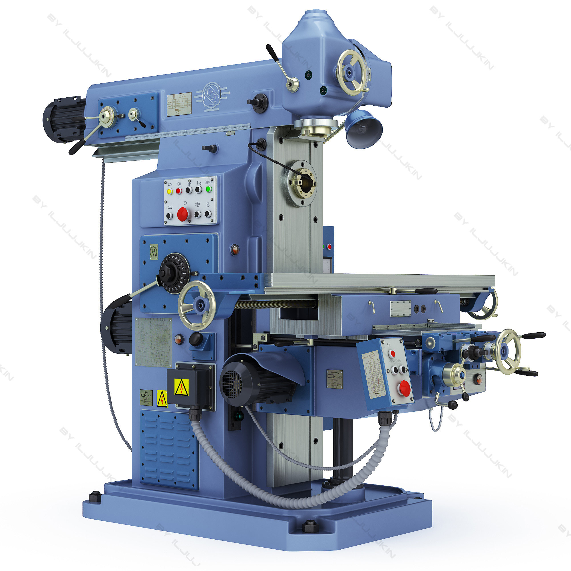 milling machine Tc 9-524 do not attempt to tighten arbor nuts using machine power when installing or removing milling cutters, always hold them with a rag to prevent cutting your hands.