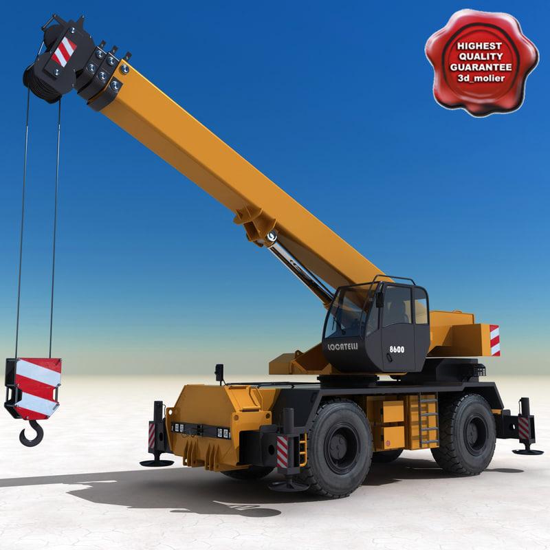 mobile crane locatelli gril 3d 3ds