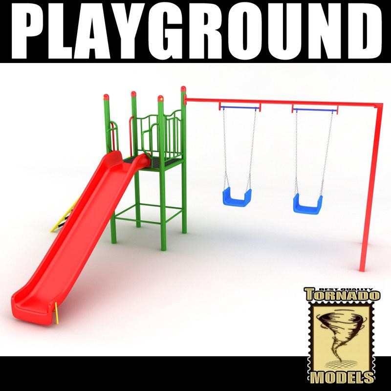 playground ground 3d model