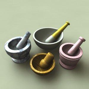 pestle mortar 3d model