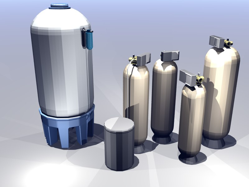 pretreatment water tank 3d model