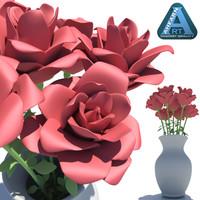 vase roses 3d model