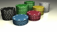 High poly poker chips