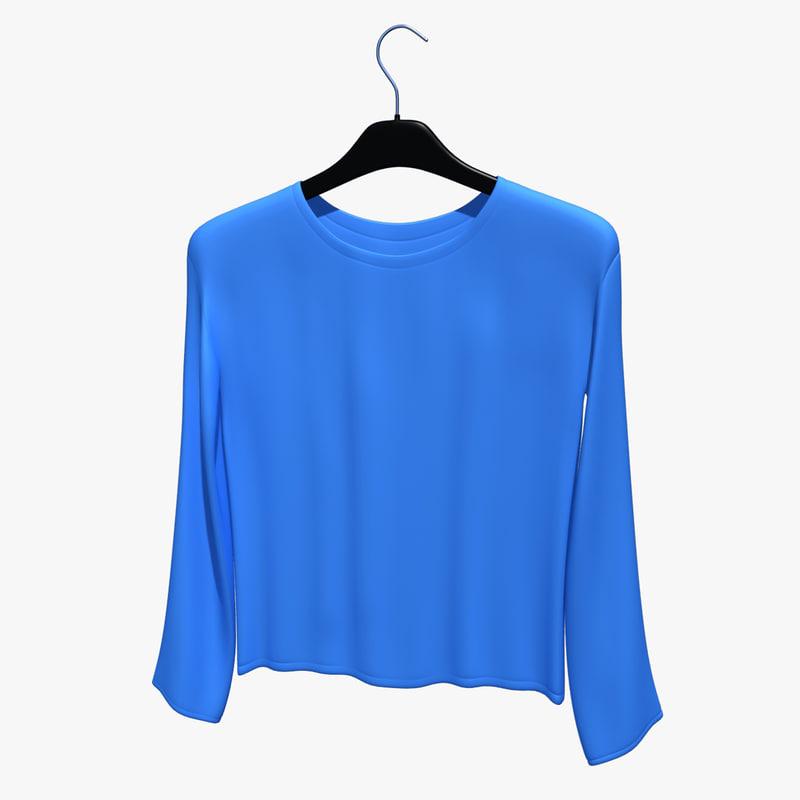 shirt hanger 3d model