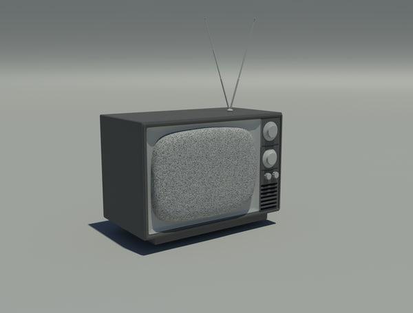 old television 3d model