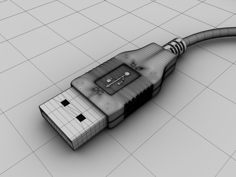 usb connector 3d model