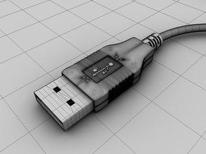 usb connector 3d model