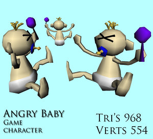 baby character 3d model