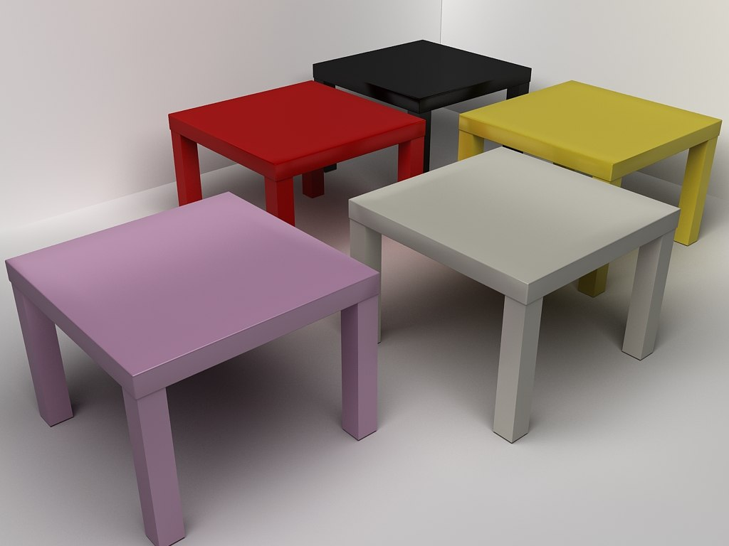 ikea coffee table 3d model