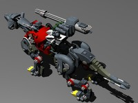3d zoid red tiger model