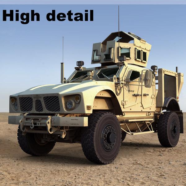 m-atv military vehicle 3d model