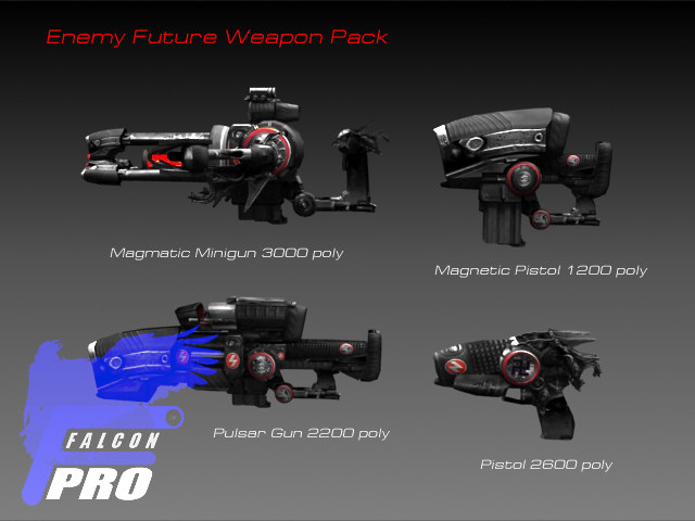 enemy future weapon pack 3d model