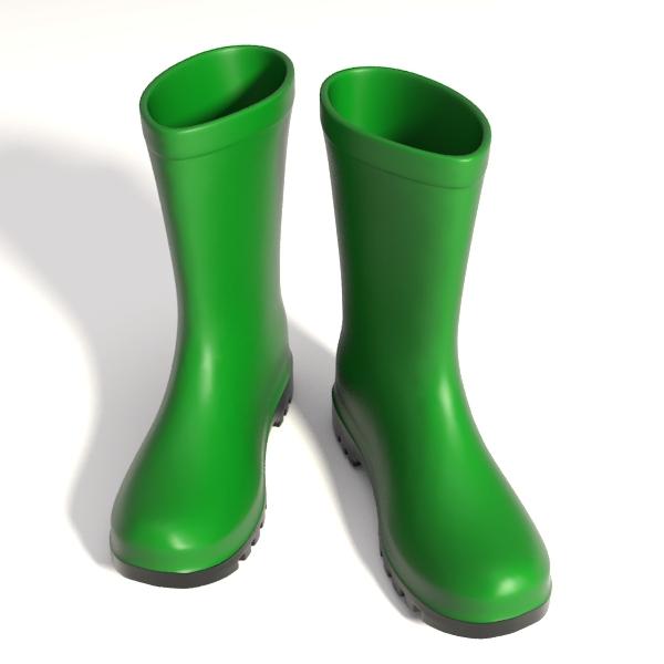 wellington boots yafaray 3d model