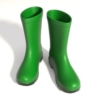 wellington boots yafaray 3d model