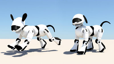 maya rigged dog robodog