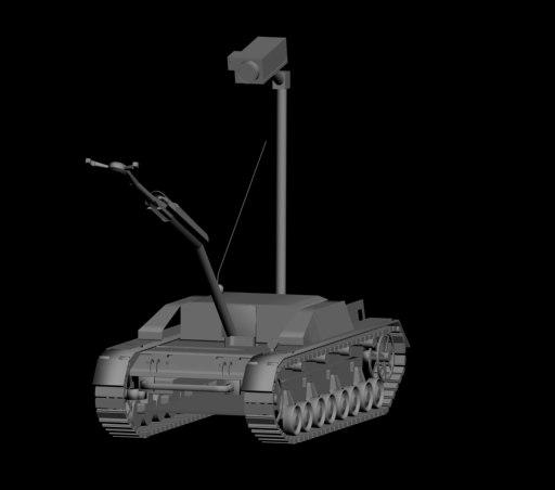 3d robot bomb squad rover model