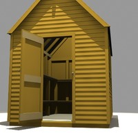 garden shed 3d 3ds