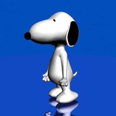 snoopy dog 3d model