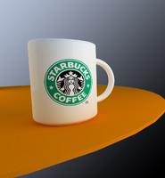 3dsmax starbucks coffee mug