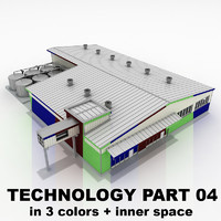 3d model 04 building industrial