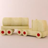 wood train 3d model