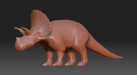 Low poly triceratops(1)