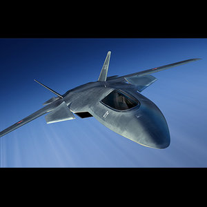 3d model concept russian fighter