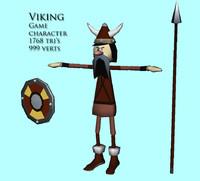 3d obj viking character