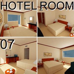 hotel guest room 07 3d model